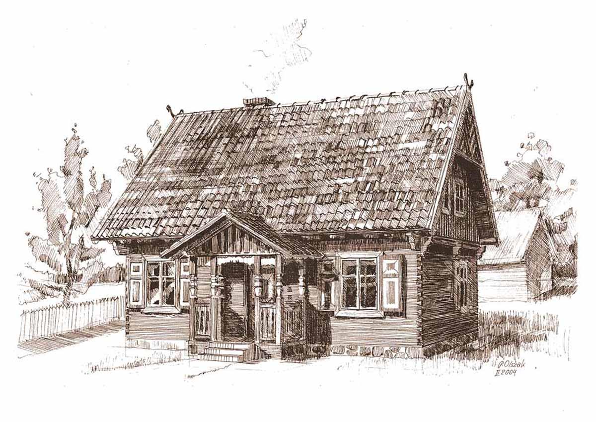 Dom-drewniany-Krutynia