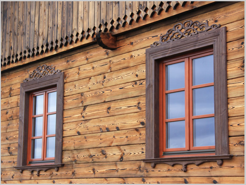Domy z bali - Stolarka - Wykończenie wnętrz