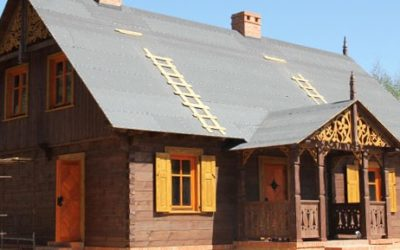 Dom z bali Przykop w Śremie