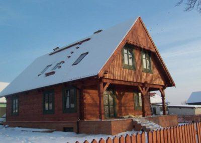 Domy z bali - Montaż