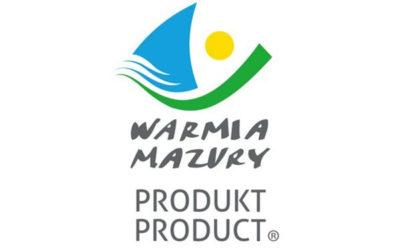 """Certyfikat -""""PRODUKT WARMIA i MAZURY"""""""