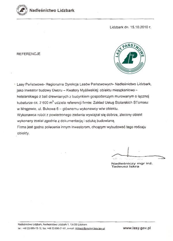 referencje-Nadlesnictwo-Lidzbark